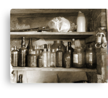 Ye Old Bottles Canvas Print