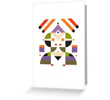 Abstract girl Greeting Card