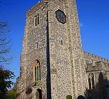 St Mary's Church, Chilham - Tower by Dave Godden