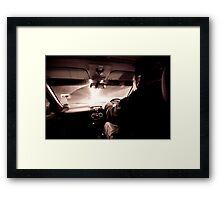 Driving down the highway of light Framed Print