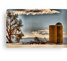 Snow Across the Prairies Canvas Print
