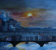 Ponteveccio by Night by RosiLorz