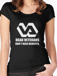Dead Veterans Don't Need Benefits - Veterans Administration (No Background) Women's Fitted Scoop T-Shirt