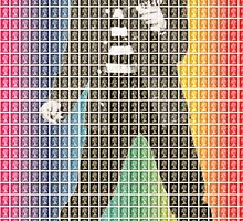 Rainbow Elvis by Gary Hogben