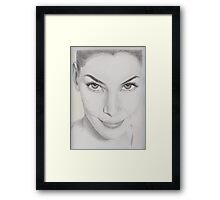 the woman Framed Print