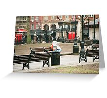 Chilling in the city - Leicester Square London Greeting Card
