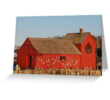 Motif #1 Holiday - Rockport, Massachusetts Greeting Card