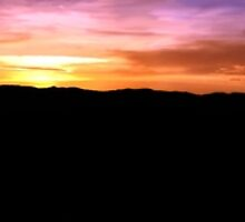 Grants Pass Outlook Panorama Sunset by Ryan Whittaker