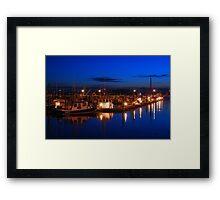 Dusk on Gloucester's Day Boats Framed Print