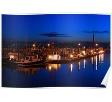 Dusk on Gloucester's Day Boats Poster