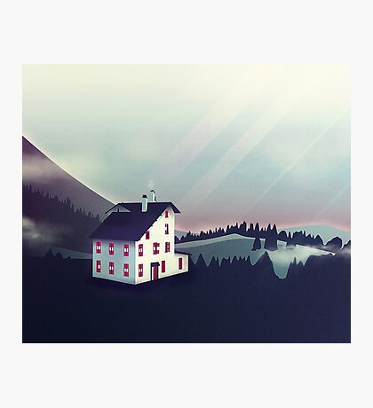 Castle in the Mountains Photographic Print