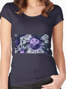 Purple Reign - Abstract Fractal Women's Fitted Scoop T-Shirt