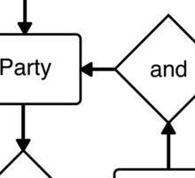 Party and Bullshit Sticker