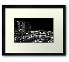 Night time - Chicago, IL Framed Print