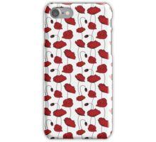 Poppy seamless iPhone Case/Skin