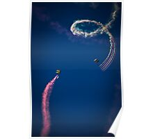 Naval Aviation Parachuters Abstract In the Sky  Poster