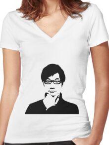 Hideo Kojima Women's Fitted V-Neck T-Shirt