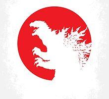 No029-2 My Godzilla 1954 minimal movie poster by JinYong