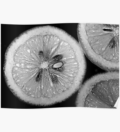 Lemon Texture Poster