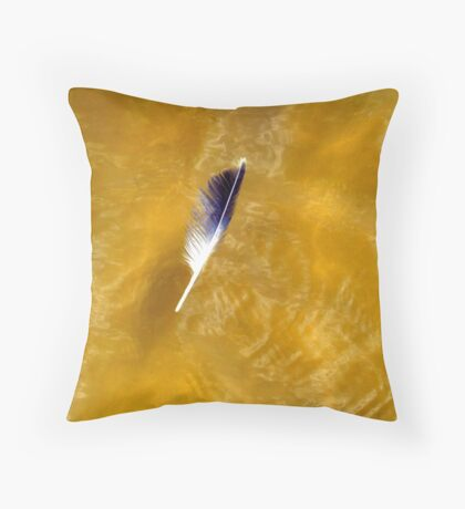 Gull Feather in the Gulf of Mexico Throw Pillow