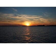 St. Lawrence Sunset Photographic Print