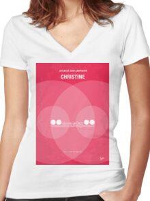 No016 My Christine minimal movie poster Women's Fitted V-Neck T-Shirt