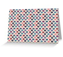 Retro Lips Pattern Greeting Card