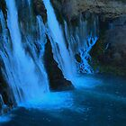 Middle of Burney falls, Ca. by goddessteri211