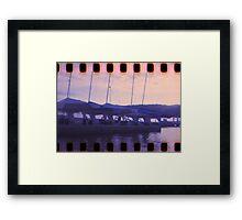 Blue Sunset on Brisbane Water Framed Print