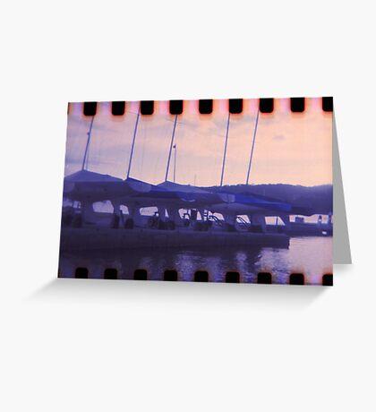Blue Sunset on Brisbane Water Greeting Card
