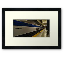 BART Tunnel... Framed Print