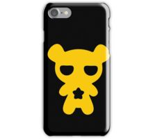Lazy Bear Yellow Attention iPhone Case/Skin