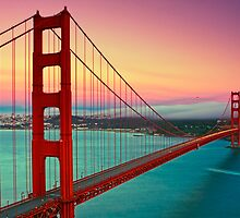 Golden Gate Bridge - Sunset by Anthony Gutteridge