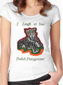 Laughing Big Cat with an Attitude Women's Fitted Scoop T-Shirt