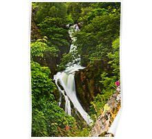 Snowdon Waterfall Poster