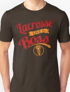 Lacrosse Like A Boss (red version) T-Shirt