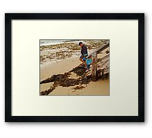 Watch Your Step! Framed Print