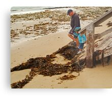 Watch Your Step! Metal Print