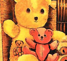 Teddies by Pam Amos