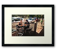 Breakfast In Guildford On Jams Street. Framed Print