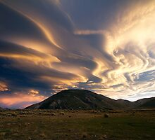Magical Clouds - Lake Tennyson by Francis Carmine