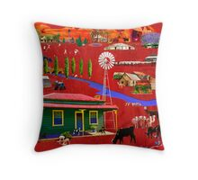 West of the Great Divide Throw Pillow