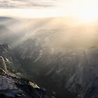 Half dome at sunset by shoenberg3