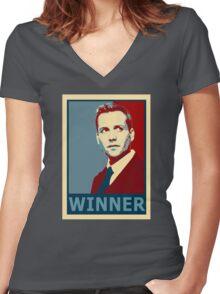 Winner Harvey Women's Fitted V-Neck T-Shirt