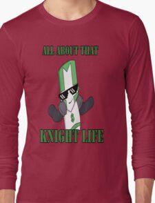 Knight Life-Green Long Sleeve T-Shirt