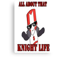 Knight Life-Red Canvas Print