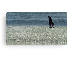 Exploring Low Tide Canvas Print