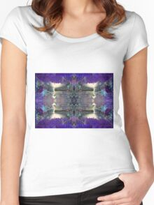 Forest totem pole Women's Fitted Scoop T-Shirt