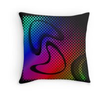 Modern Retro Throw Pillow