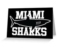 Miami Sharks shirt (Any Given Sunday, Willie Beamen) Greeting Card